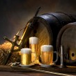 The still life with beer - 图库照片