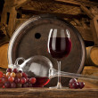Foto de Stock  : Still life with red wine