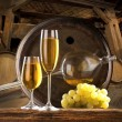 Still life with white wine — Stockfoto