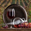 Foto Stock: Still life with red wine