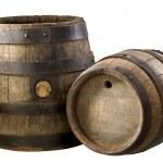 Old wood barrels — Stock Photo