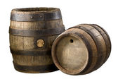 Old wood barrels — Photo