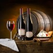 The still life with red wine — Stockfoto