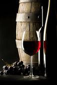 Stilleben med rött vin — Stockfoto