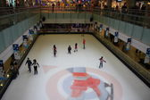 Indoor ice skating area, skating skating — Stok fotoğraf
