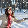 Girl in snow - Stockfoto
