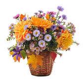 Bouquet of autumn flowers — Stock Photo