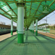 Rail station — Stock Photo