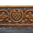 Ancient carving wood - Stock Photo