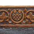 Stock Photo: Ancient carving wood