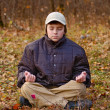 Meditation in forest — Foto Stock