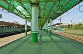 Rail station — Stock Photo