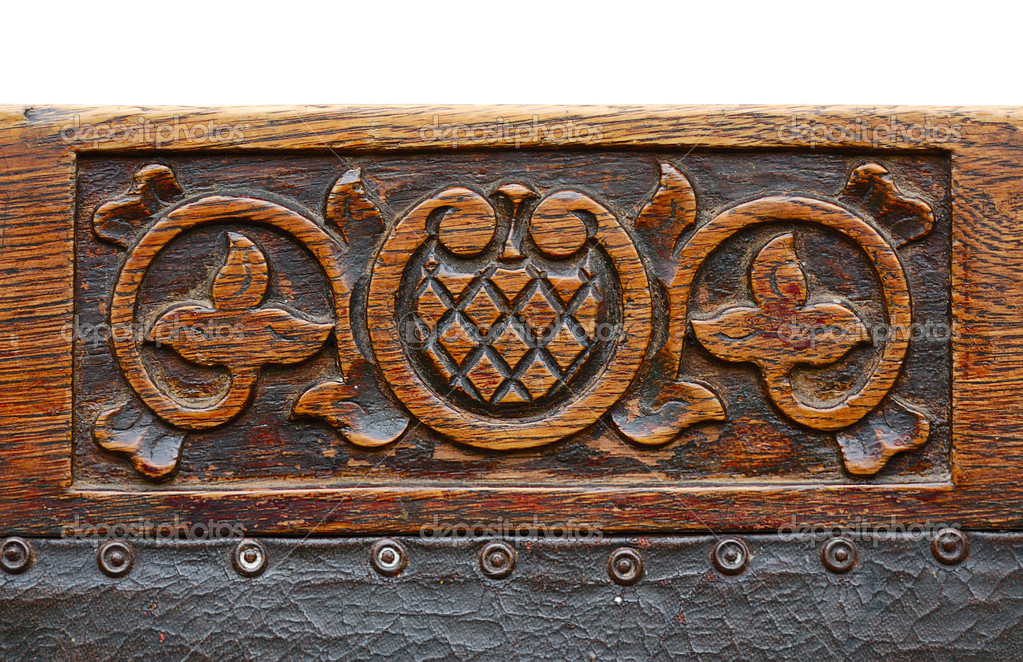 Ancient carving wood pattern, beginning of 20 century — Stock Photo #2563726