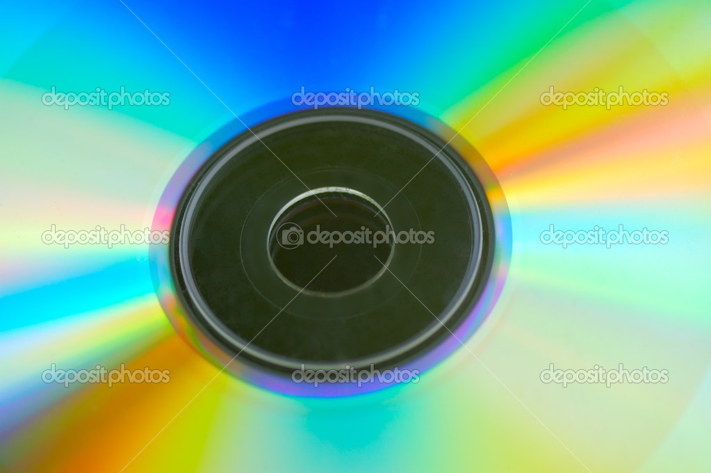 Rainbow surface of  disk — Stock Photo #2563834