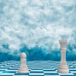 Chess In The Clouds Background — Zdjęcie stockowe