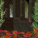Garden Background — Stock Photo