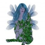 Translucent Blue Fairy — Stock Photo