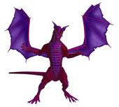 Roze paars dragon — Stockfoto