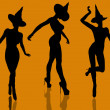 Halloween Illustration silhouette - Foto Stock
