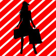 Christmas Shopping Silhouette Illustration — Photo