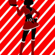 Christmas Shopping Silhouette Illustration - Foto Stock