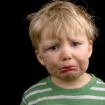Very sad little boy — Stock Photo