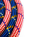 Climbing rope on white background — Stock Photo
