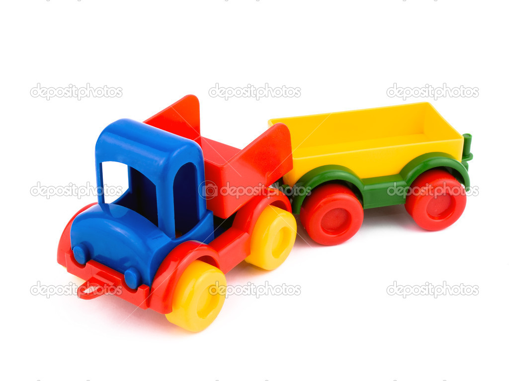 Colorful toy-car on white background — Stock Photo #2678826