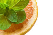 Grapefruit and mint — Stock Photo