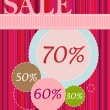 Easter Sale banner — Vector de stock