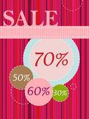 Påsk försäljning banner — Stockvektor