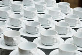 Tea Break Cups in business conference — Stock Photo