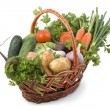 Royalty-Free Stock Photo: Basket with vegetables