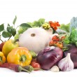 Vegetables on white background - Stock Photo
