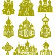 Stock Vector: Church orthodox