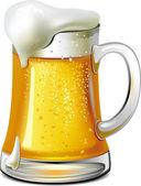 Mug of beer — Stock Vector