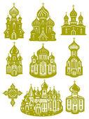 东正教教会 — 图库矢量图片