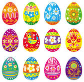 Collection of vector eggs — Stock Vector