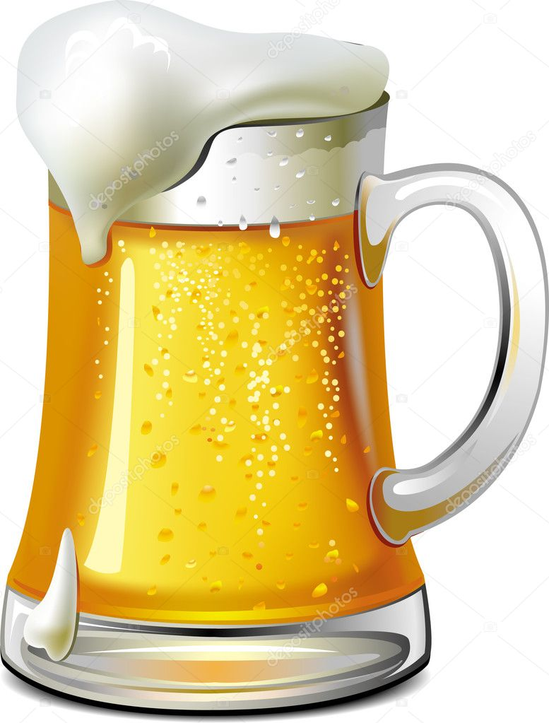 Mug of beer  — Stock Vector #2460491