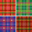 Royalty-Free Stock Vector Image: Vector pattern of seamless tartan plaid