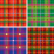 Vector pattern of seamless tartan plaid — Stock Vector