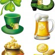 St. Patrick&#039;s day set - Imagens vectoriais em stock