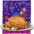 Roast turkey — Stock Vector