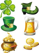 St. Patrick's day set — Stockvektor