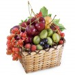 Stock Photo: Mixed berries in basket