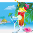 Cocktails on the beach — Stock Vector #2509072