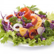 colorful salad with mixed vegetables — Stock Photo