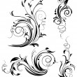 Set of floral design elements - Image vectorielle