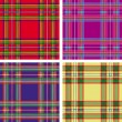 Vector pattern of seamless tartan plaid - Stock Vector