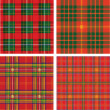Vector pattern of seamless tartan plaid — Vector de stock